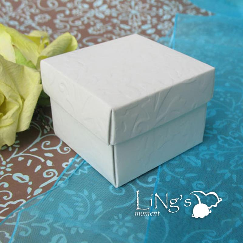 120 Pieces White Gift Favor Boxes Wedding Baby Shower Party Box Decoration