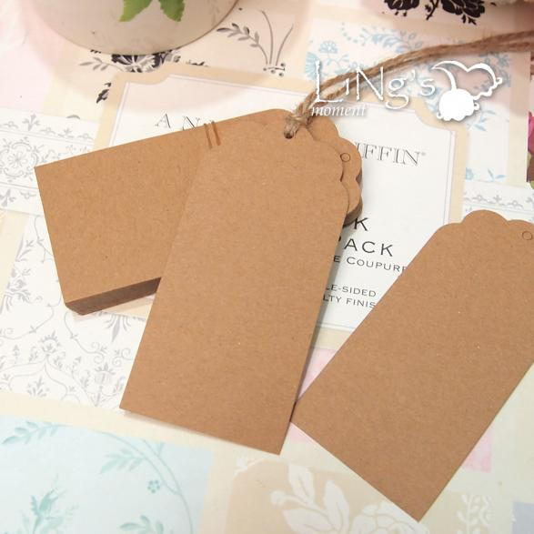 Wedding Favor Tags Ebay : ... Thank You Kraft Paper Hang Tags Wedding Favor Gift Cards Luggage Label