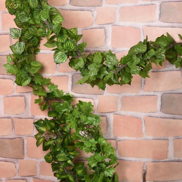 7.2ft Artificial Green Leaf Garland Vine Plastic Plant Ivy