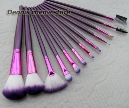12pcs pro purple make up kit makeup brushes makeup brush