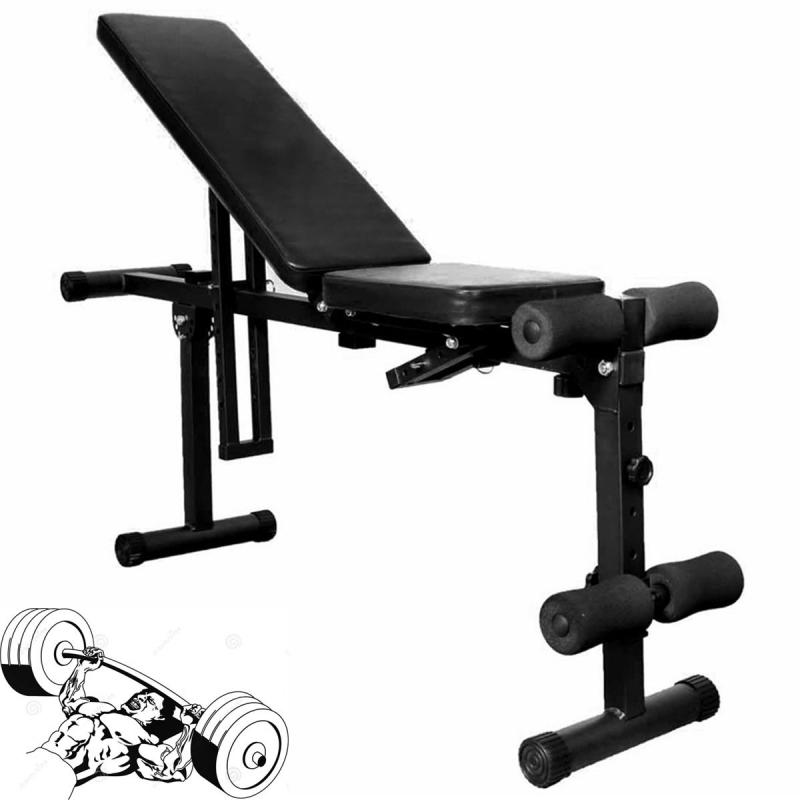 Fully Adjustable Folding Gym Weight Bench Flat Incline Home Gym Dumbbell Lifting Ebay