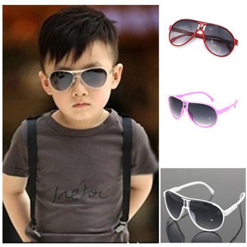 Fashion Baby Boys Girls Kids Sunglasses Child Goggles Black White Pink Red Blue