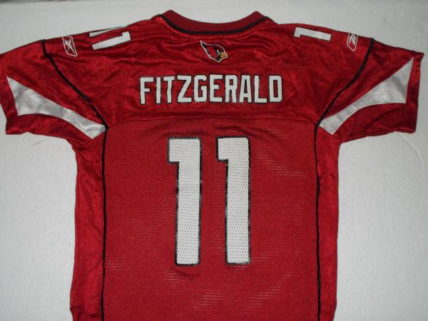 26f67807 REEBOK LARRY FITZGERALD #11 ARIZONA CARDINALS RED NFL FOOTBALL ...