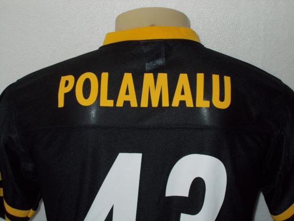 4fb0bce4d64 TROY POLAMALU #43 PITTSBURGH STEELERS BLACK NFL JERSEY YOUTH LARGE ...