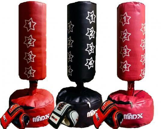 madx kids junior boxing free standing punch bag set. Black Bedroom Furniture Sets. Home Design Ideas