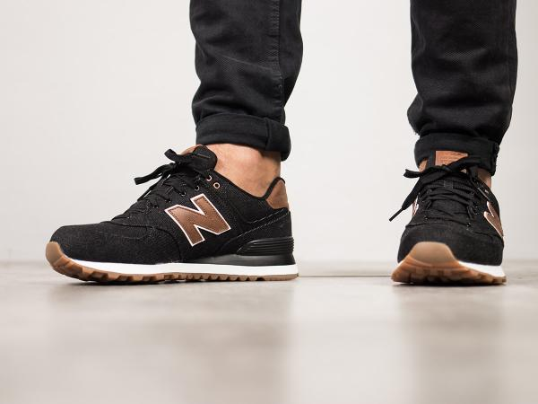 new styles 8f61c b78eb Details about Men's New Balance Canvas ML574TXA Lifestyles Black/brown  Shoes NIB