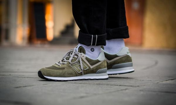 low priced 92237 3a642 Details about NIB Men's New Balance ML574EGO (olive / white) Life style  sneakers