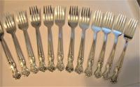 4 Wm Rogers Mfg Co Inspiration Magnolia Silverplate Flatware Salad Forks