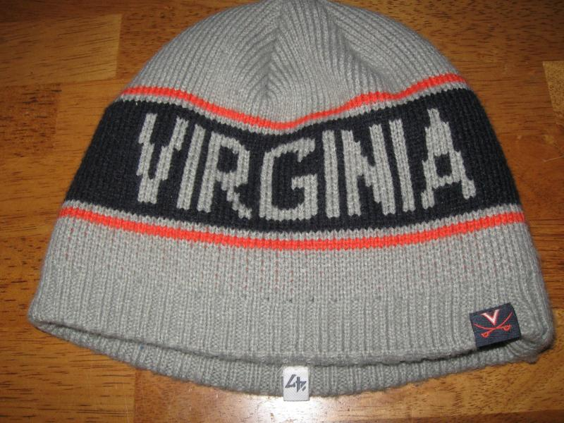 1f2b53670e57f9 47 Brand Virginia Cavaliers beanie hat. OSFA adult. 100% thick Acrylic. In  gently pre owned condition. a98bag. Click here to Enlarge