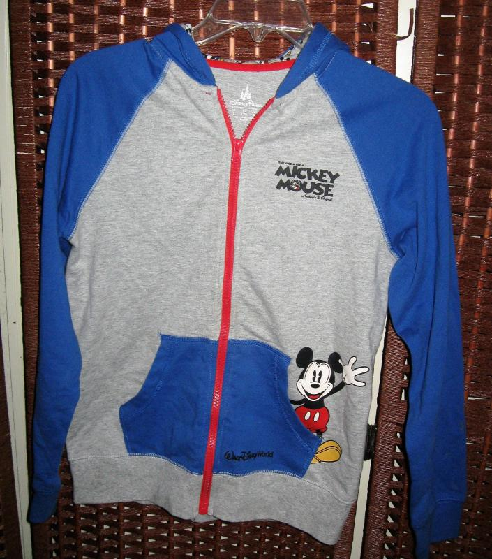 Details about Disney Parks Mickey Mouse jacket hoodie L kids 12 yr sweatshirt 34