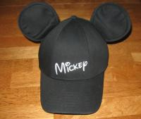 Black Adult Mickey Mouse Hat Baseball Cap with Ears