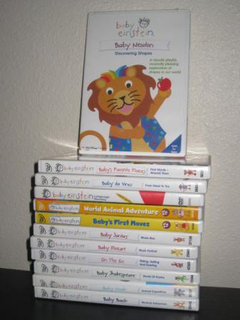 Lot Of 12 Baby Einstein Dvds Dvd Guc Santa Noah Vinci