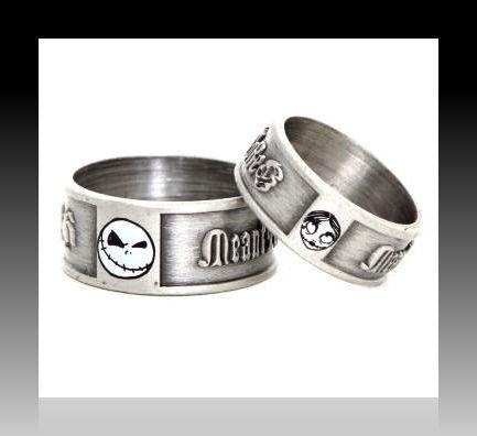 Details about NIGHTMARE BEFORE Xmas Jack & Sally Engagement Ring Set w ...