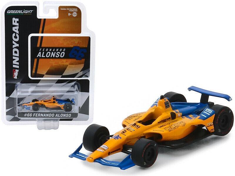 Fernando Alonso Chevrolet #66 Qualifying Indy 500 2019 McLaren Racing 1:64 Green