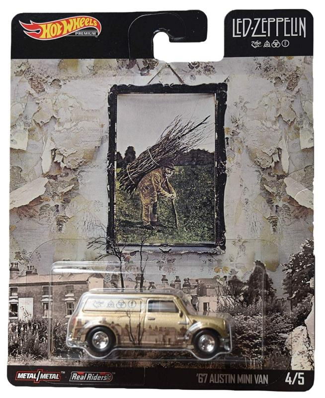 /'67 Austin Mini Van Pop Culture E Case 2019 Hot Wheels LED-Zeppelin