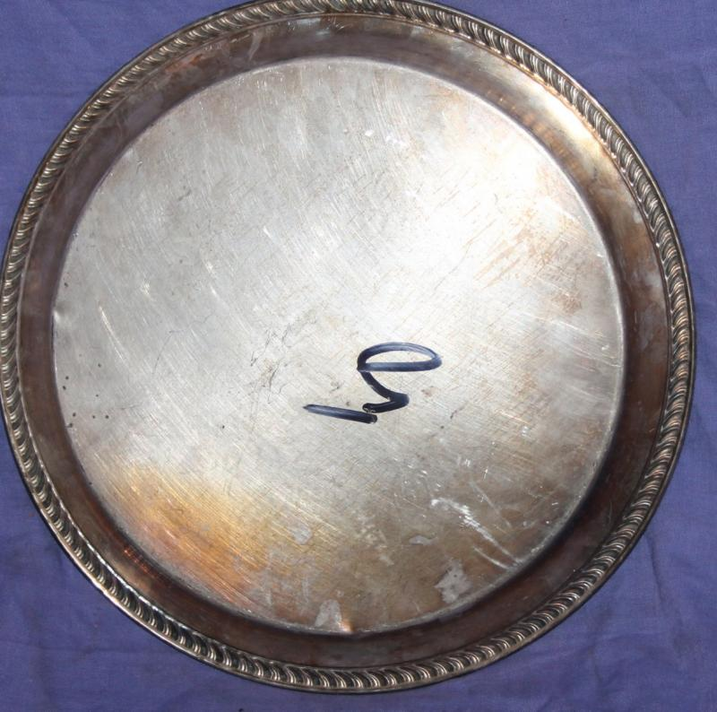 Wm A Rogers Silver Plate Marks: Vintage Wm Rogers Silver Plated Ornate Floral Serving