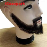 100/% Human Hair Handmade Fake Mustache Beard for Entertainment//Drama//Life