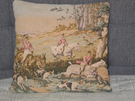 Victorian Tapestry Pillows : Vintage Pillow Tapestry Pillow Victorian-