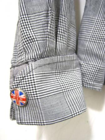 English laundry mens nice black white gingham plaid for Nice mens button up shirts