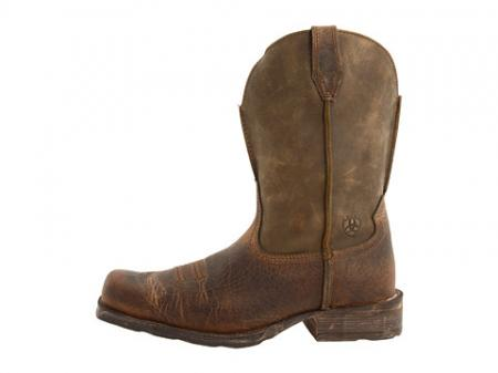Ariat Mens Brown Leather Rambler Square Toe Cowboy Boots