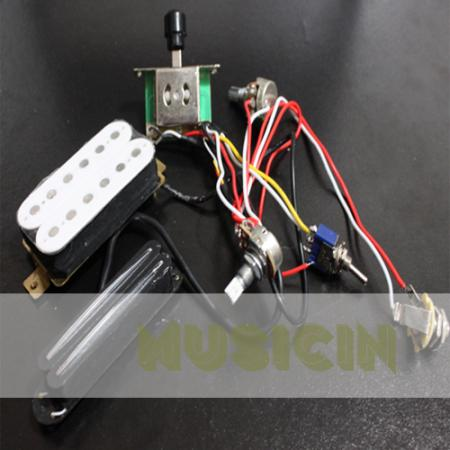 electric guitar wiring harness kit w humbucker twin coil pickup for sg tl lp. Black Bedroom Furniture Sets. Home Design Ideas