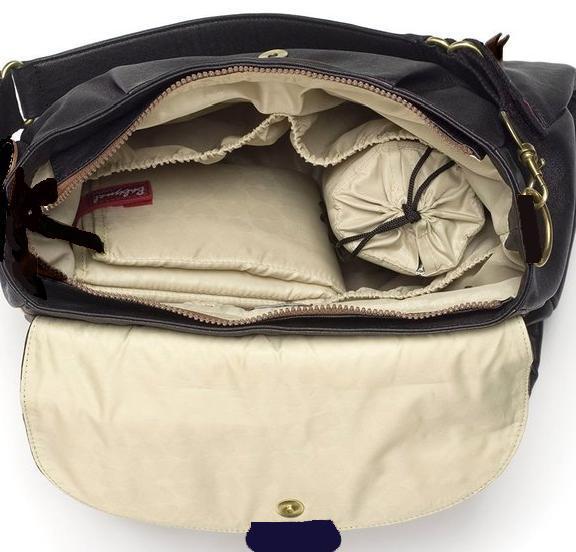 New 2in1 Storksak Baby Mel Designer Black Nylon Diaper Bag