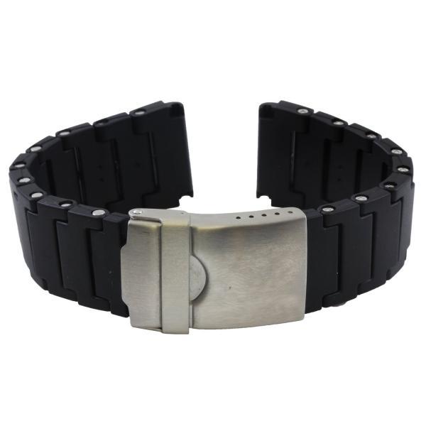 b12c033bfcd Black Polyurethane Band for 3050   3950 Luminox Watches