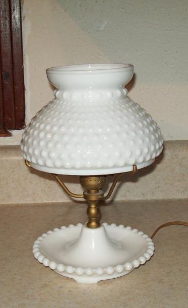 Vintage white milk glass hobnail hurricane 10 table lamp electric vintage white milk glass hobnail hurricane 10 table lamp electric aloadofball Images
