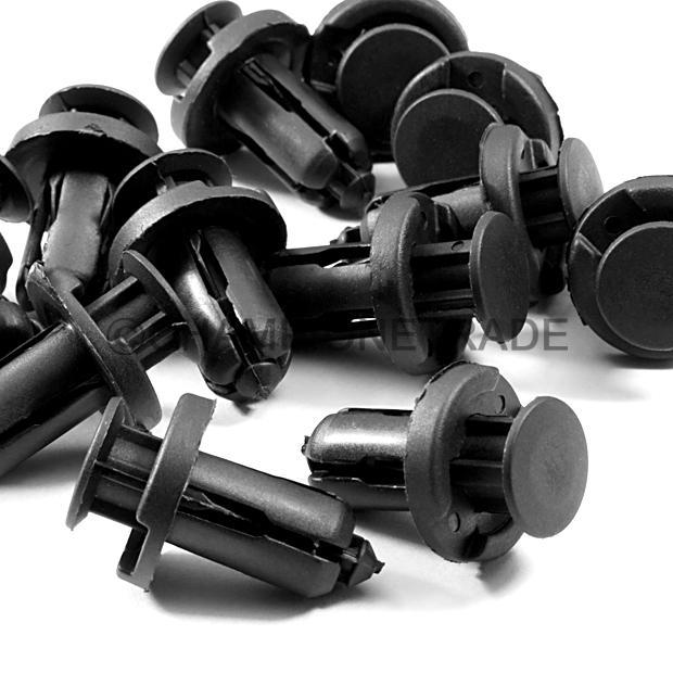 pcs mm black bumper clips fit  honda accord civic crv crx element  ebay