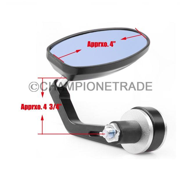 Au 2pcs 7 8 Quot 22mm Handle Bar Aluminum Motor Bike End Rearview Mirror For Bmw Ct Ebay