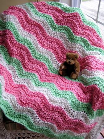 Crochet Afghan Pattern Homespun Yarn : baby blanket crochet handmade afghan lion brand homespun ...