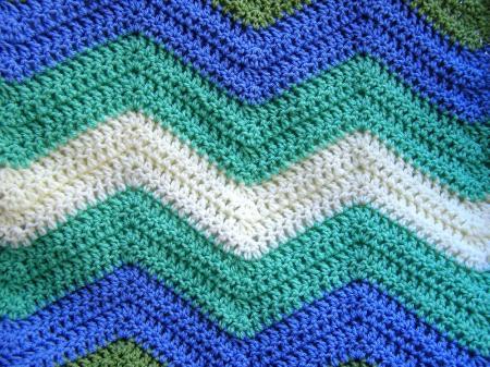 Zig Zag Crochet Baby Blanket Pattern Free :  CROCHET PATTERN ZIG ZAG AFGHAN