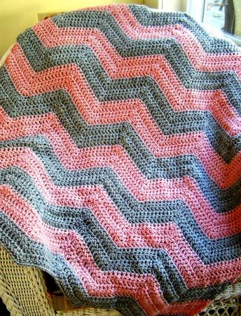 Precious Ripple Crochet Baby Afghan Pattern | Purple Kitty