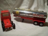 Old Vintage Shell Semi truck Cab trailer Pressed steel