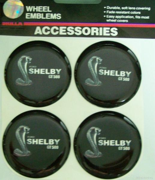 FORD SHELBY COBRA GT500 WHEELS RIM EMBLEMS