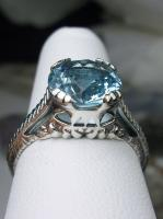 4ct *Aquamarine* /& Pearl Sterling Silver Art Deco Filigree Ring {Made To Order}