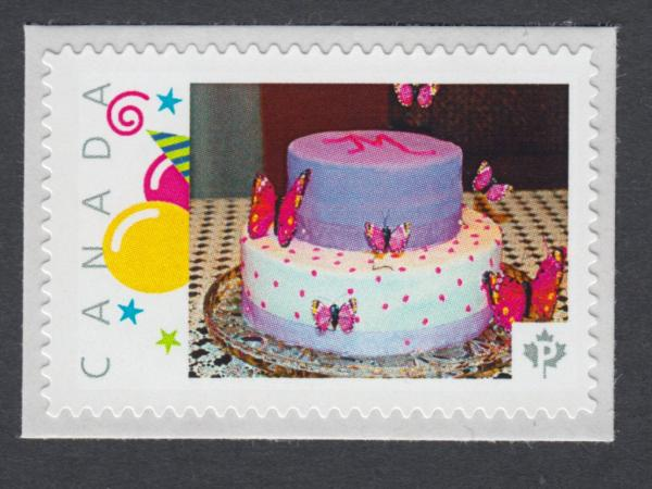 Amazing Birthday Cake Canada Picture Postage Stamp P75Sn3 Ebay Funny Birthday Cards Online Chimdamsfinfo