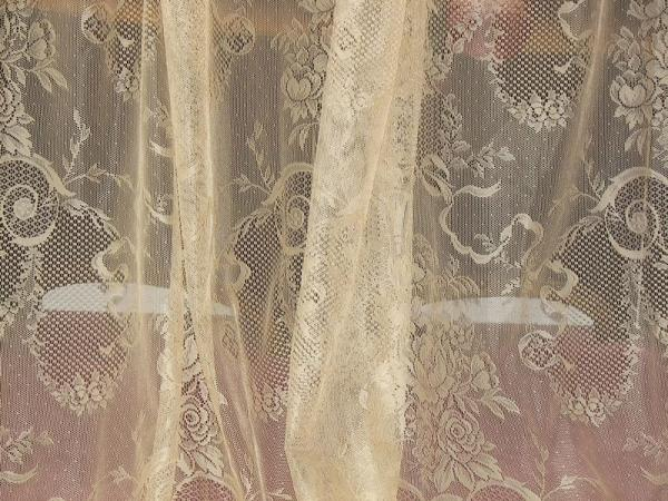 Victorian neo classical french country net floral lace drapes curtains