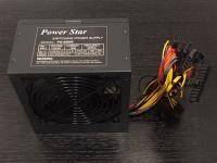 SATA /& 6-Pin Brand NEW--Powork Black 650w-MAX ATX Power Supply 12cm-Fan 20+4Pin