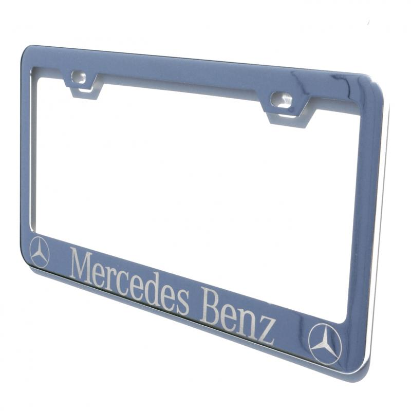 laser engraved for mercedes benz chrome license plate