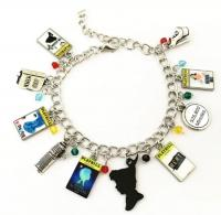 10 Themed Charms Heathers Broadyway Musical Assorted Metal Charm Bracelet