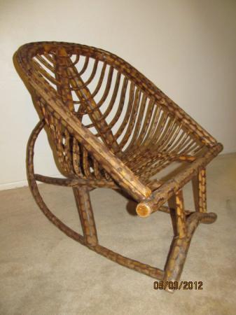 Vintage Folk Art Bent Willow Bent Branch Rocking Chair Rocker