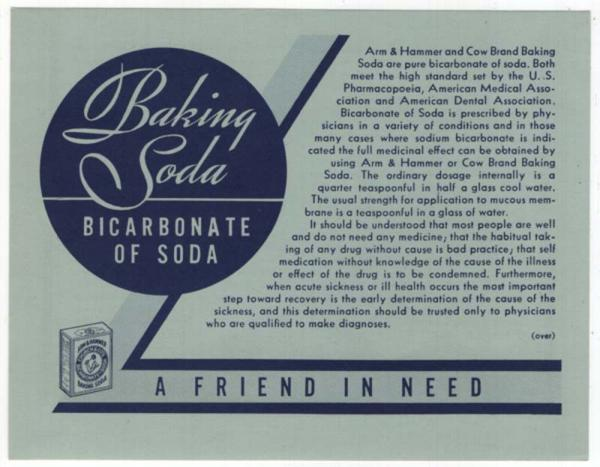 Details about ARM & HAMMER Advertising Brochure, Baking Soda, Bicarbonate  of Soda