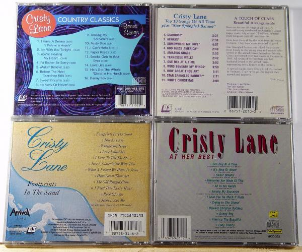 Details about Lot Of 4 CRISTY LANE CD's - Footprints, Her Best, Top 10  Songs, Country Classics