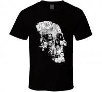 horror movie character skull design montage Sci-Fi T shirt tshirt t-shirt tee