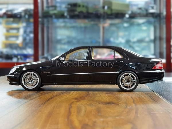 1//18 OTTO Mercedes Benz S-Class S65 W220 AMG Diecast Car Model Collection Black