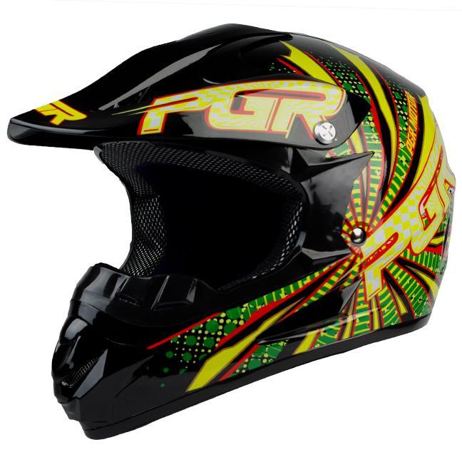 Youth PGR x25 Green Vortex B MX Off Road Dirt Bike Motocross Quads ATV