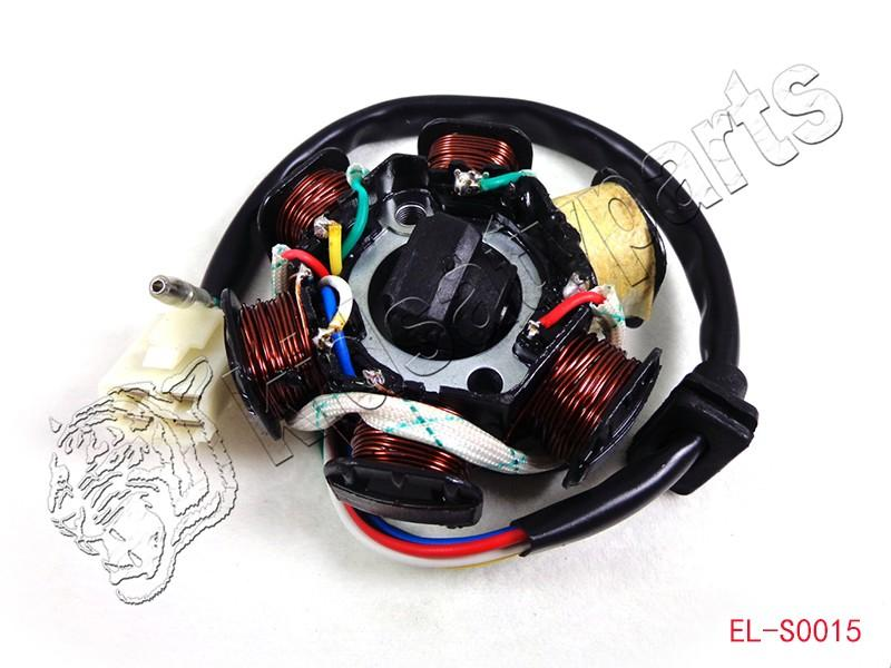 gy6 stator parts accessories gy6 50 110 150cc ignition stator magneto 6 coil scooter moped atv taotao jcl