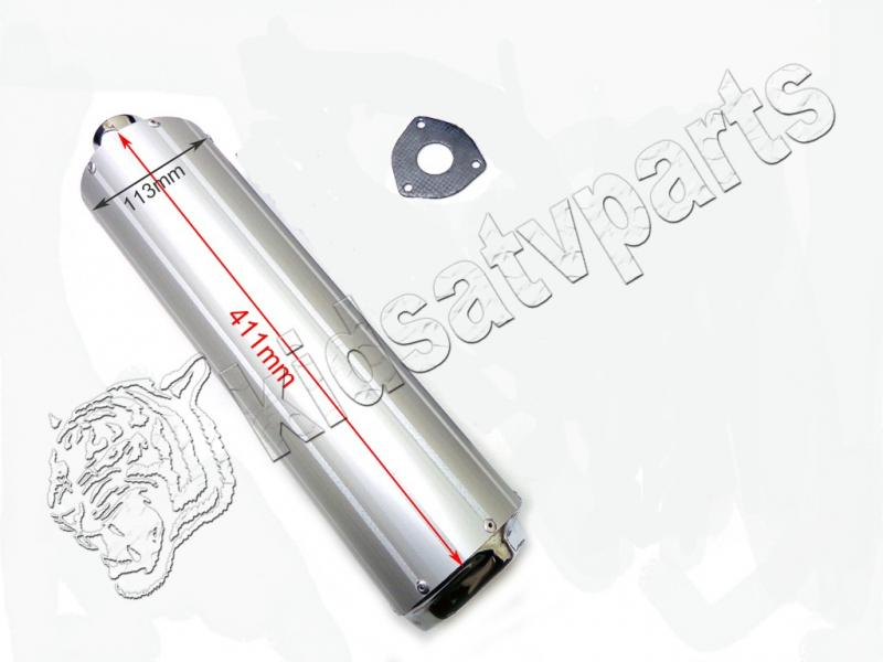 Muffler Exhaust Pipe For 125cc 150cc GY6 Scooter Moped Go kart Buggy