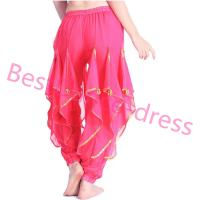 Belly dance Gold Wavy Pant Skirt Indian Tribal Outfit Harlan Yoga Halloween pant